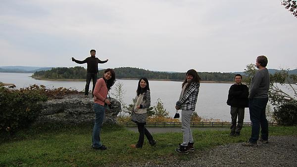到朱鞠内湖了