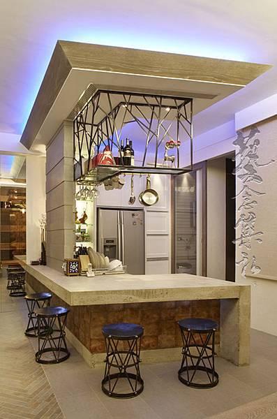 開放式餐廳吧台