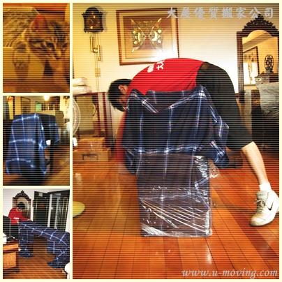 精緻型-長櫃軍毯防護作業