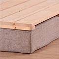三折木板床
