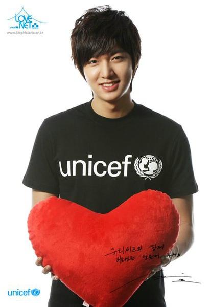 敏鎬為聯合國兒童中心做公益宣傳
