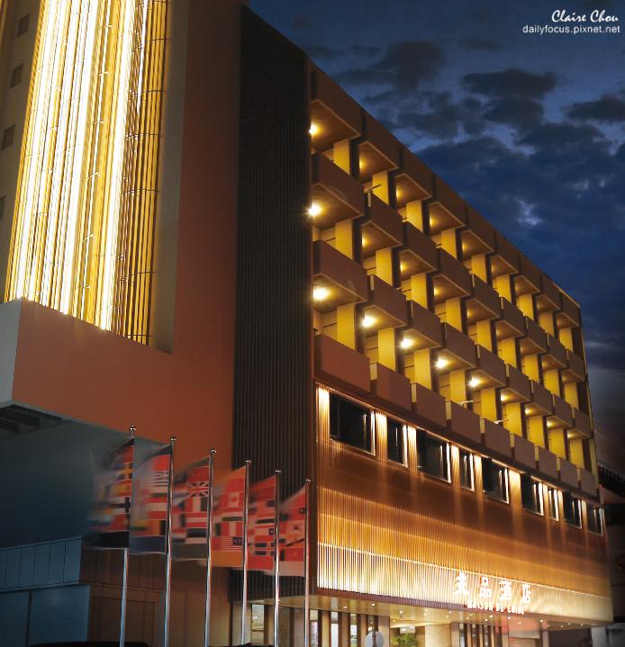 兆品酒店嘉義 外觀夜景