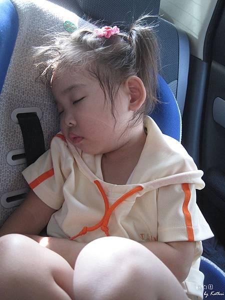 121014[3Y0M17D]到動物園前先在車上午睡