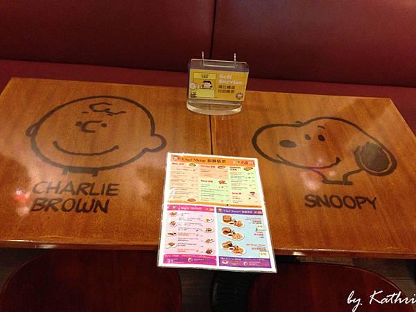 桌子和菜單