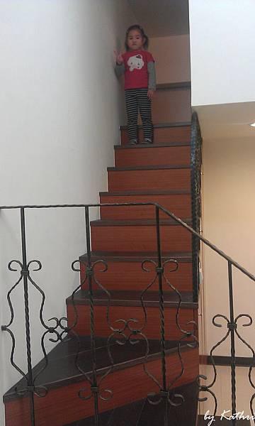 他喜歡家裡有樓梯
