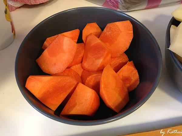 紅蘿蔔切塊