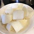 白蘿蔔切塊
