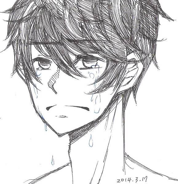 哭喪著臉的少年