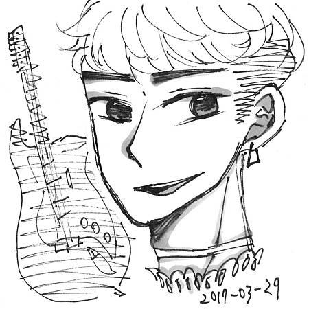 蕾絲領子樂團吉他手