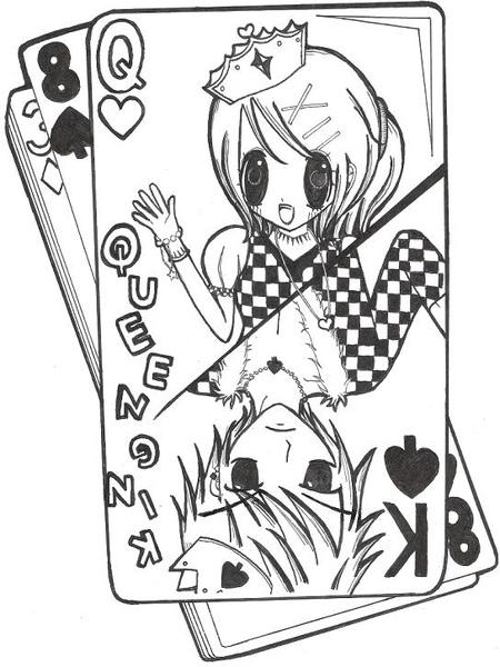 國王皇后撲克牌