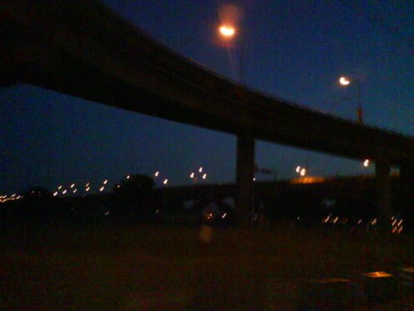 晨泳的路上