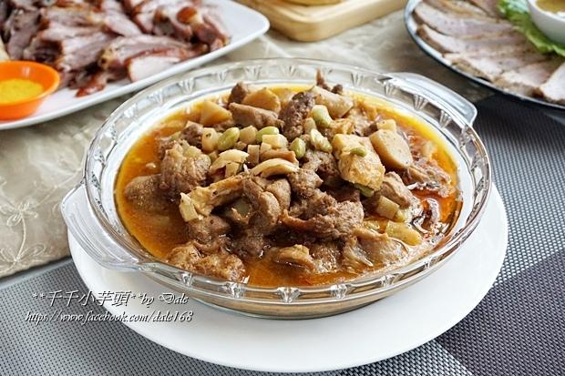 復興空廚年菜德國豬腳+法式烤鴨胸+百合時蔬燴猴頭菇+南瓜塔30.JPG