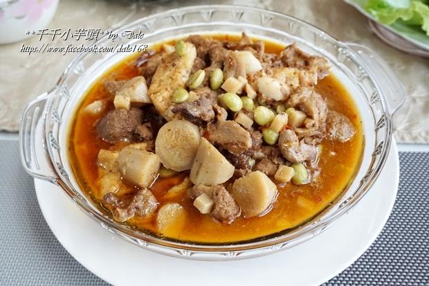 復興空廚年菜德國豬腳+法式烤鴨胸+百合時蔬燴猴頭菇+南瓜塔31.JPG