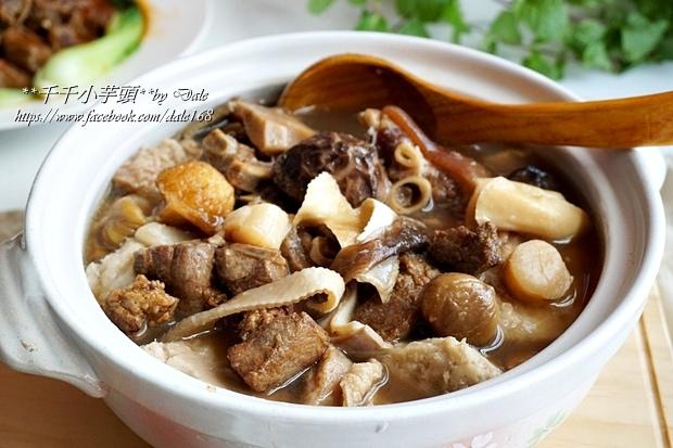 復興空廚年菜佛跳牆+滷梅干扣肉+紅燒蕃茄燉牛腩+八寶芋泥28.JPG