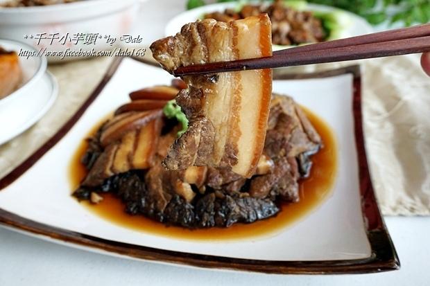 復興空廚年菜佛跳牆+滷梅干扣肉+紅燒蕃茄燉牛腩+八寶芋泥36.JPG