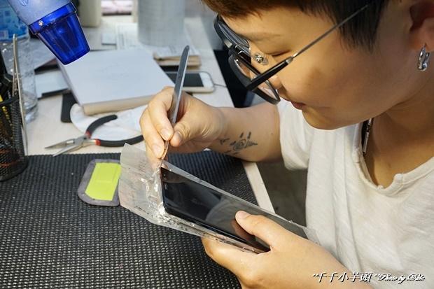 iDeology iPhone現場維修包膜41.JPG