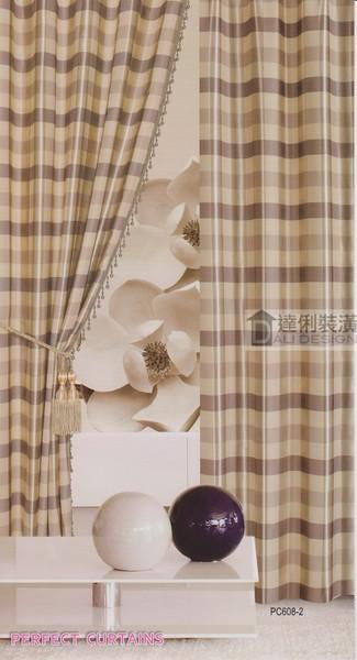 方格子圖案窗簾
