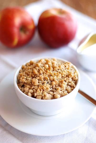 溫暖的甜點 蘋果酥與香草醬