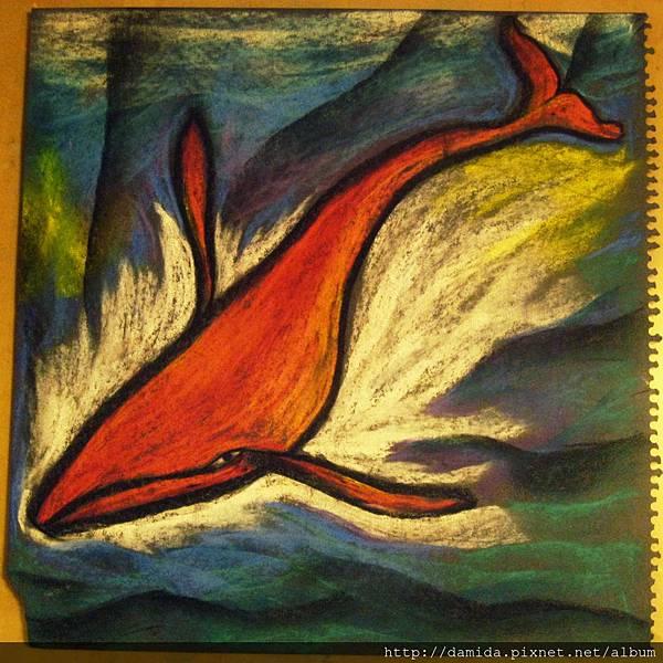06年.血紅鯨魚.游往黑藍深海........