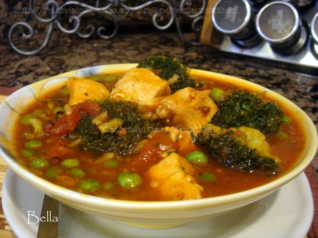 高纖蔬雞湯