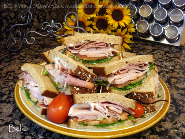 雙色火腿三明治