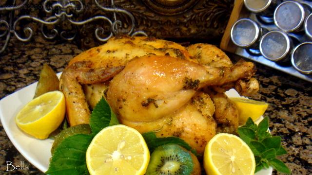 香草脆皮烤雞