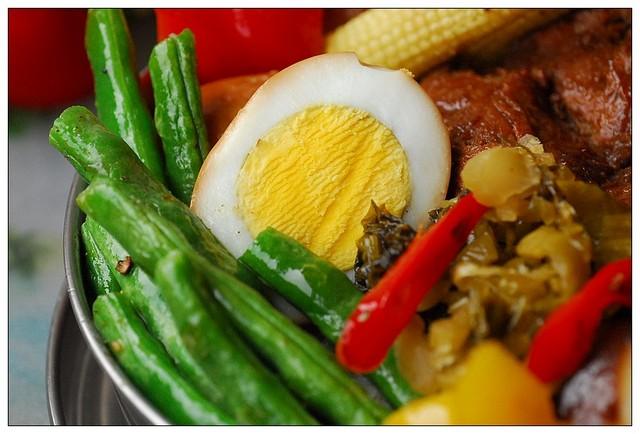 10炒長豆和滷蛋