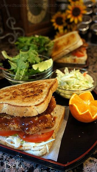 日式豬排三明治