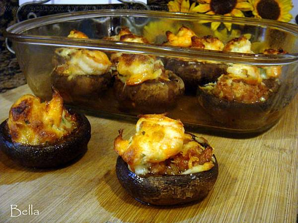 鮮蝦鑲蘑菇