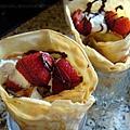 法式草莓可麗餅