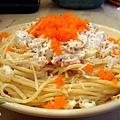 明太子蟹肉沙拉義大利麵