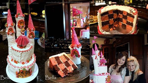 夢幻城堡藝術蛋糕