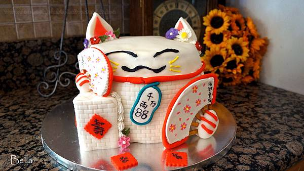 招財貓生日蛋糕