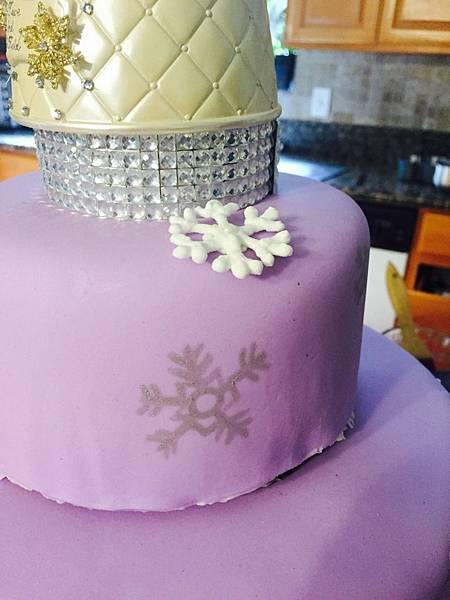 冬雪紫夢水晶球結婚蛋糕
