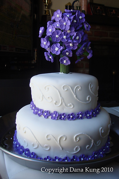 紫色夢幻結婚蛋糕 Purple Fantasy Wedding Cake