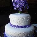 紫色夢幻結婚蛋糕 Purple Fantasy Wedding Cake