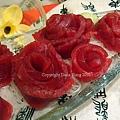 玫瑰藍鰭鮪魚生魚片
