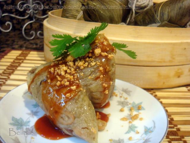 台灣肉粽包法