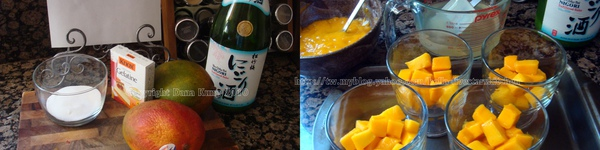 芒果酒凍 Mango Sake Jelly