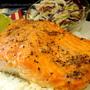 奶油香蒜烤鮭魚 Buttery Garlic Salmon