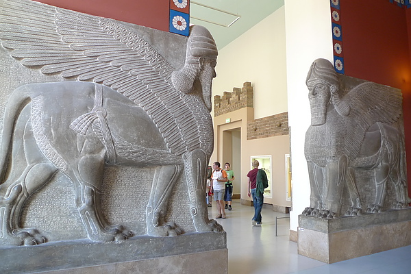巴比倫文化石像