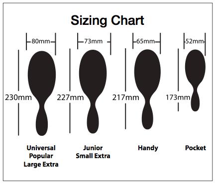 Mason Pearson Sizing Chart