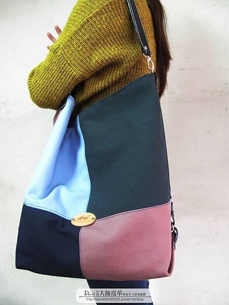 時尚個性拼接帆布包