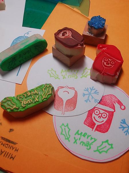 聖誕節的印章和小卡.JPG