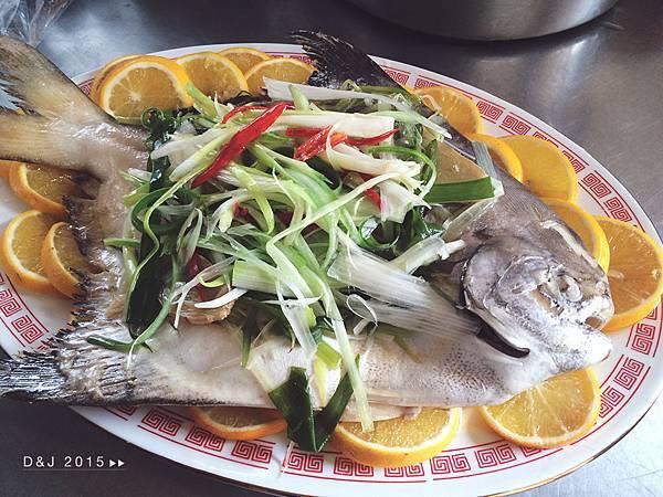 清蒸白鯧魚