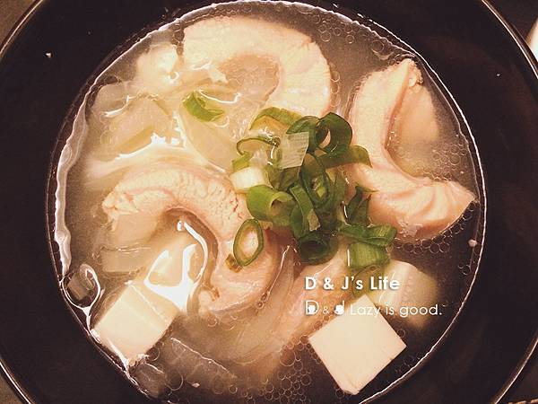 日式鮭魚味噌湯