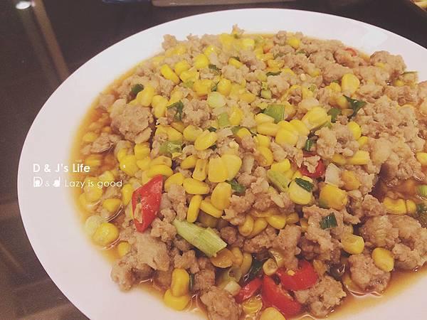 黃金玉米炒絞肉