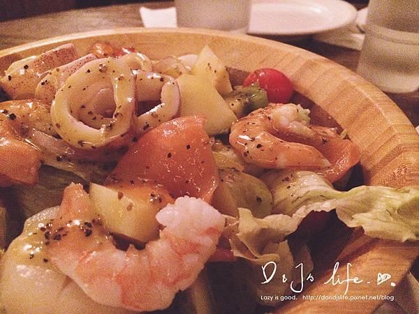 海鮮水果沙拉