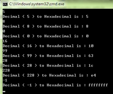 教學] 10進位轉16進位( Decimal to Hexadecimal ) @ 一個小小