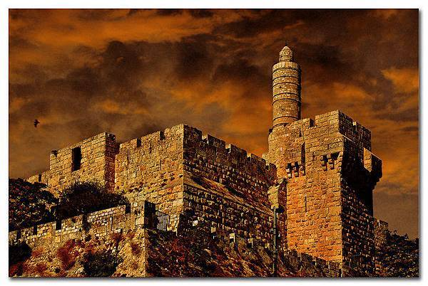 以色列耶路薩冷的大衛塔